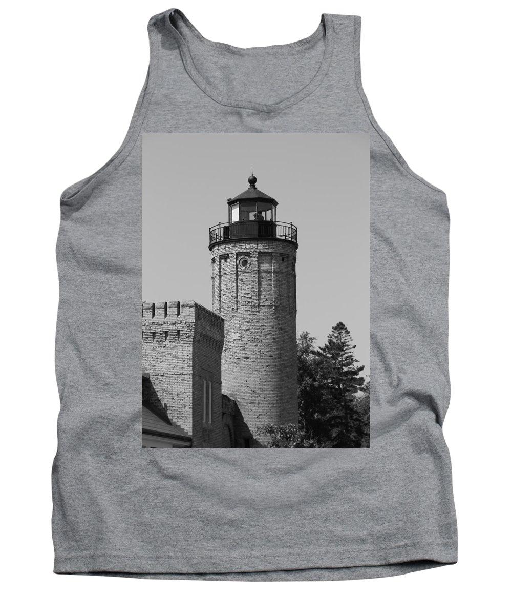Old Mackinac Point Lighthouse Tank Top featuring the photograph Old Mackinac Point Lighthouse by Dan Sproul