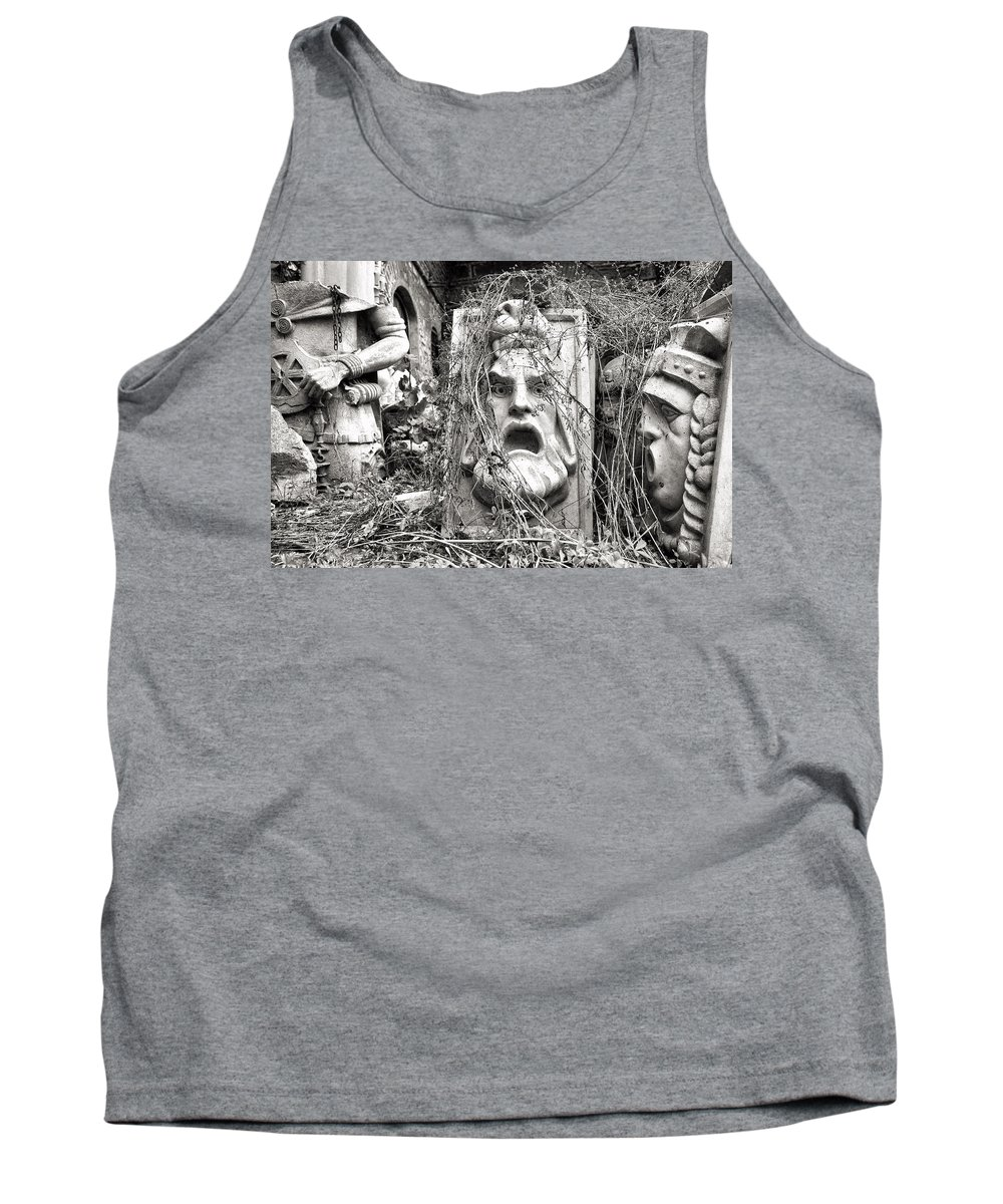 Bezisten Tank Top featuring the photograph Old Statues In Skopje by For Ninety One Days