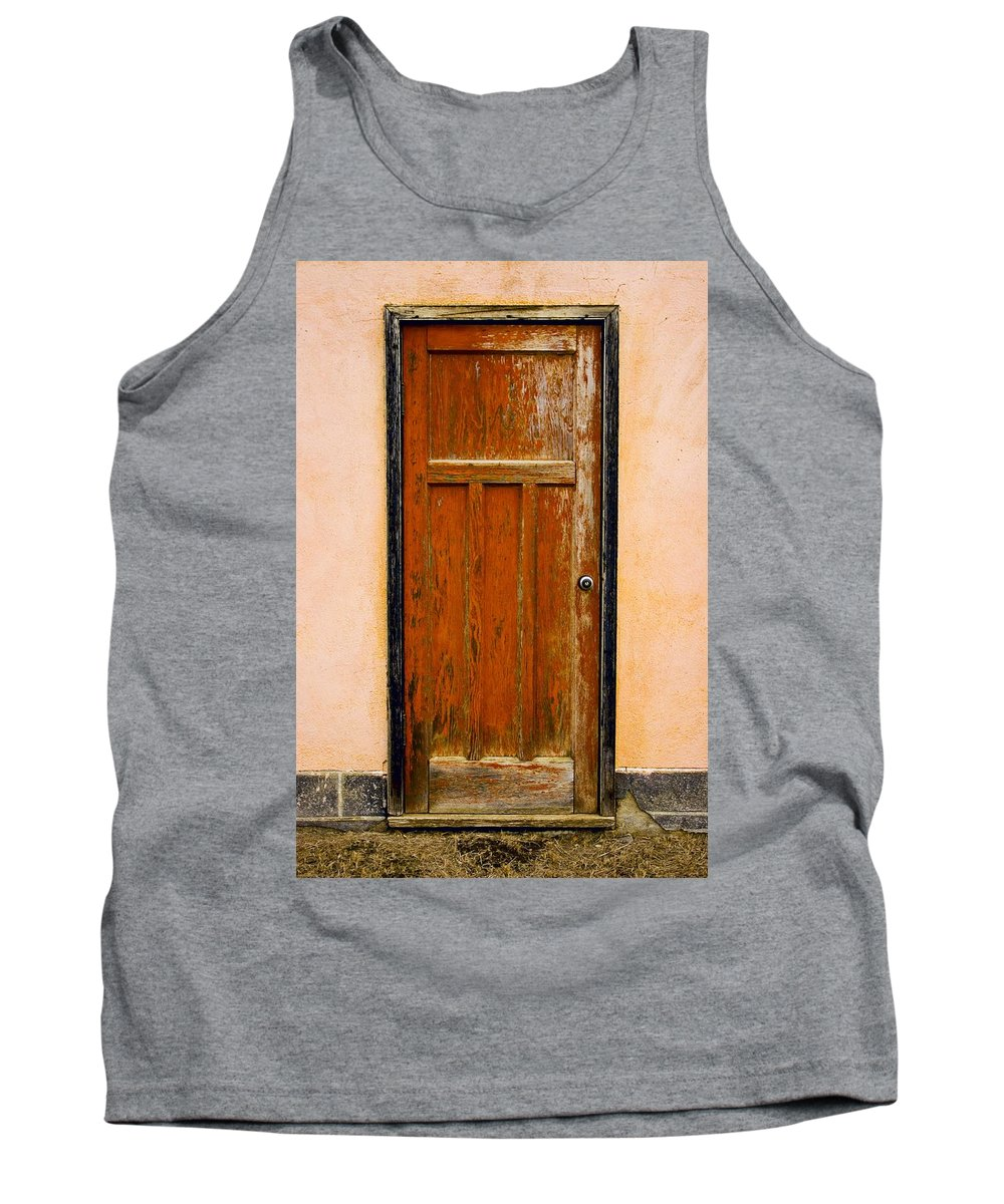 Concept Tank Top featuring the photograph Old Weathered Door by Don Hammond