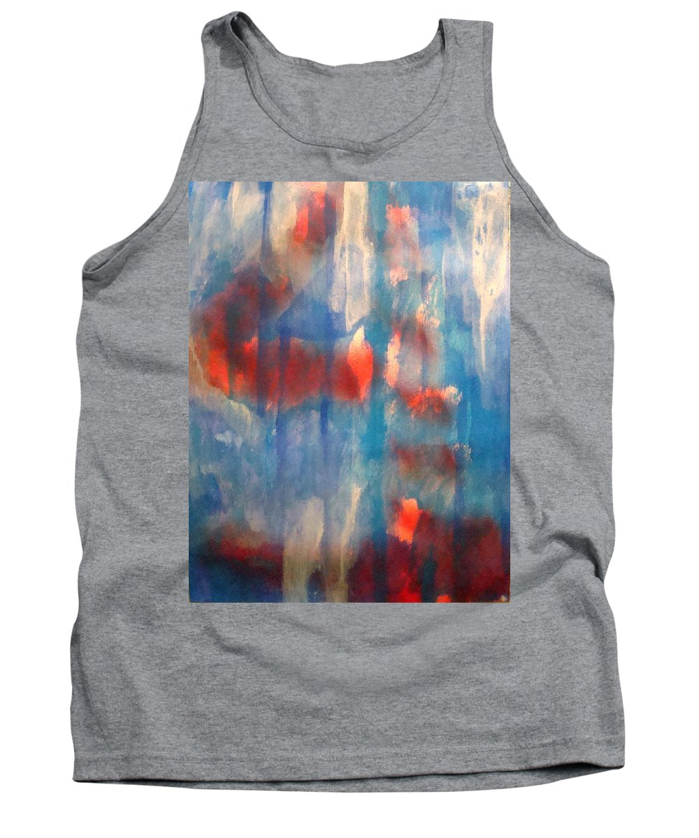 Christian Tank Top featuring the painting On A Clear Day - Red Forever by W Todd Durrance