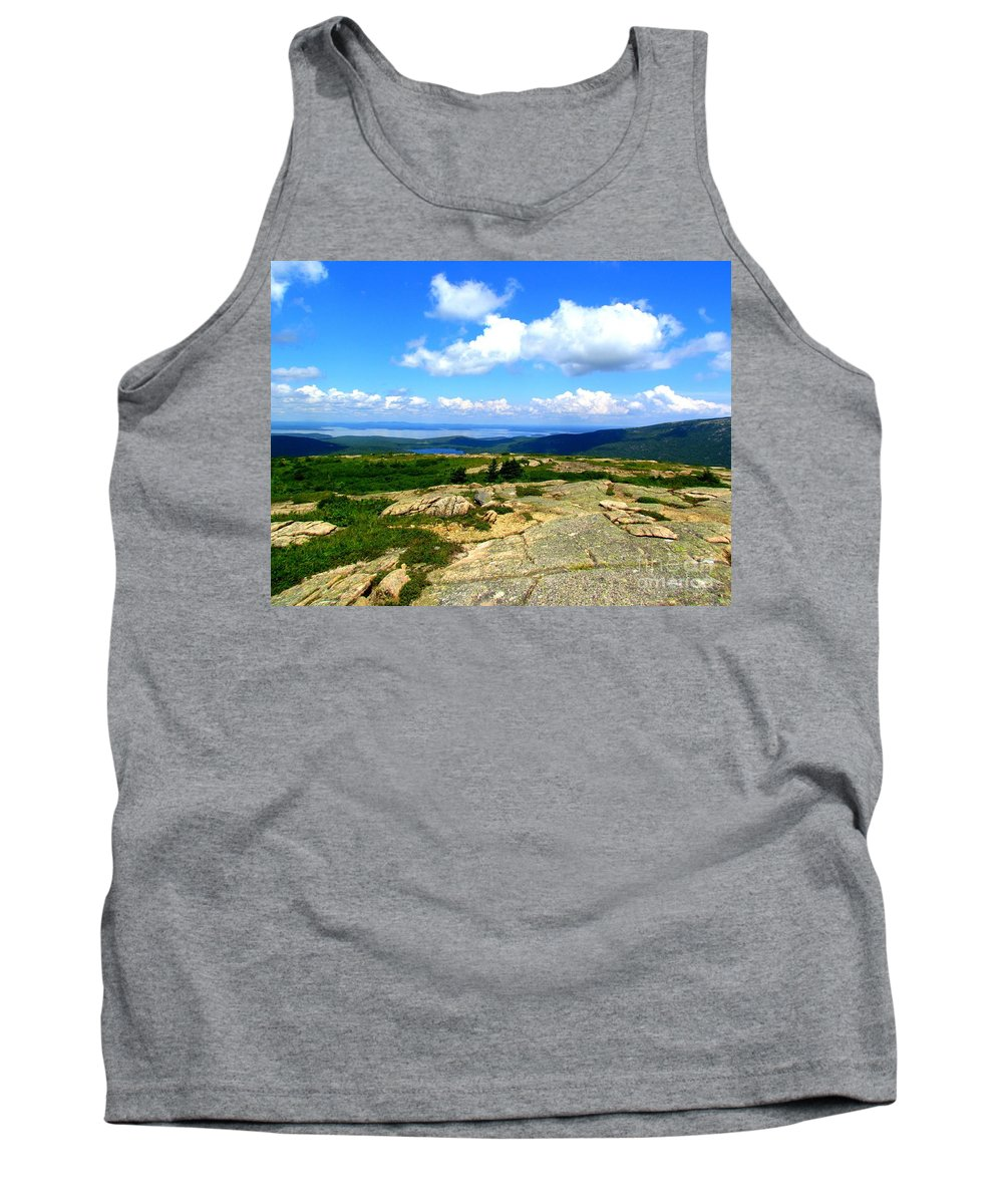 Sargent Mountain Tank Top featuring the photograph On A Mountain In Maine by Elizabeth Dow