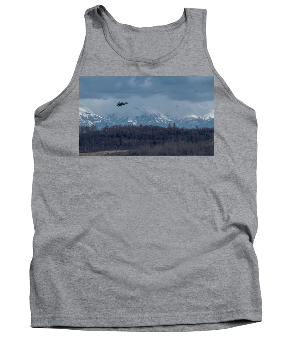 F-22 Raptor Photographs Tank Top featuring the photograph On Final by Thomas Sellberg