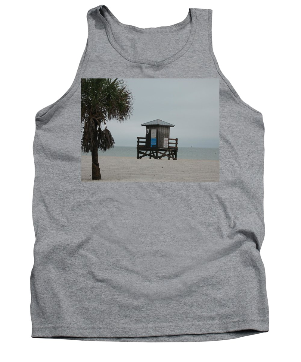 Beach Tank Top featuring the photograph No Lifeguard On Duty by Christiane Schulze Art And Photography