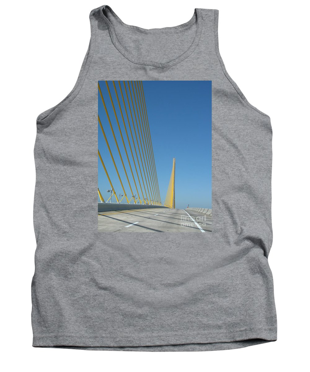Bridge Tank Top featuring the photograph On The Sky Way Brigde by Christiane Schulze Art And Photography