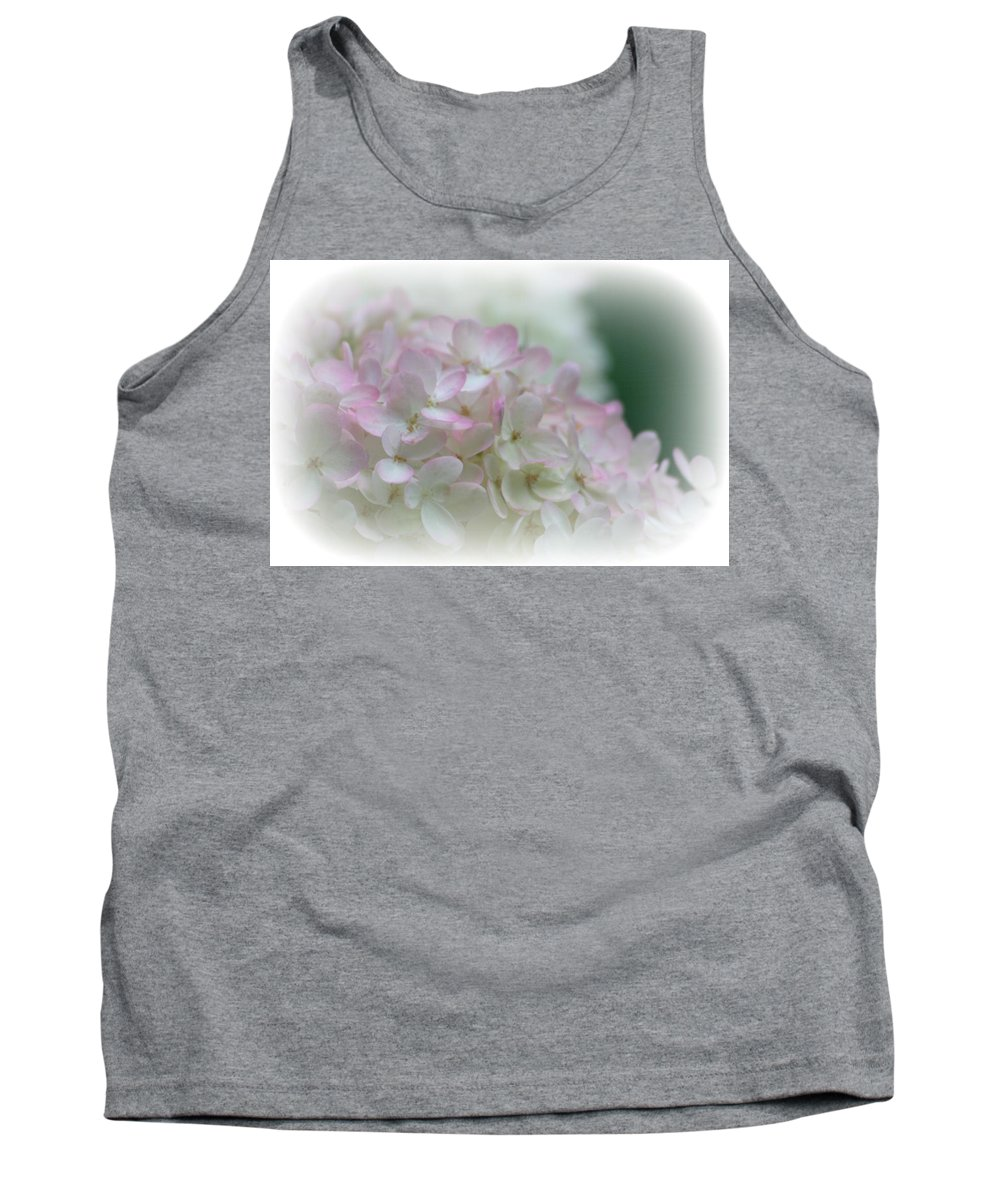 Macro Tank Top featuring the photograph On The Verge Of Pink by Barbara S Nickerson