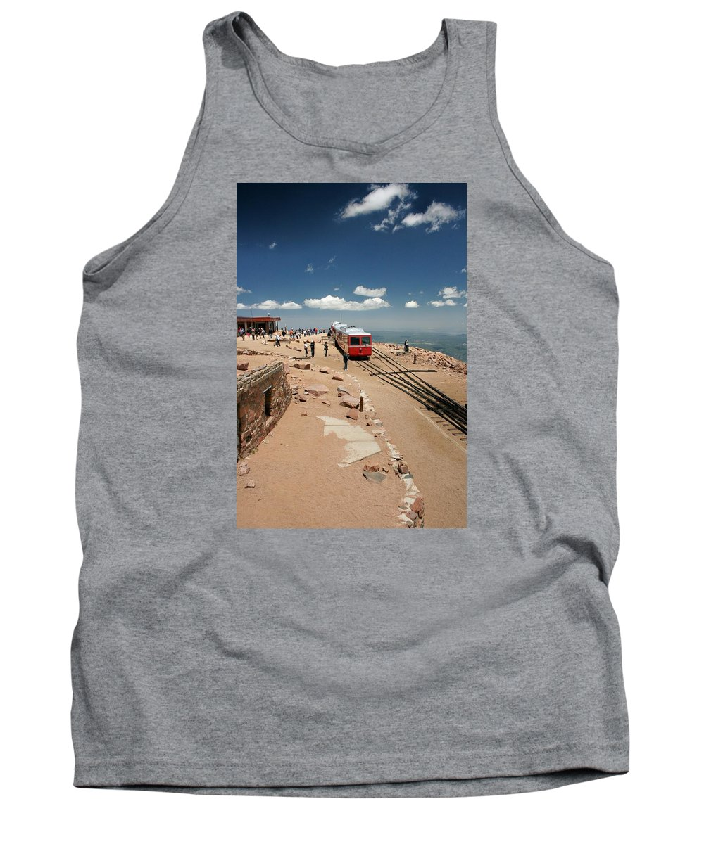 Pikes Peak Tank Top featuring the photograph On Top Of The World by Susan McMenamin