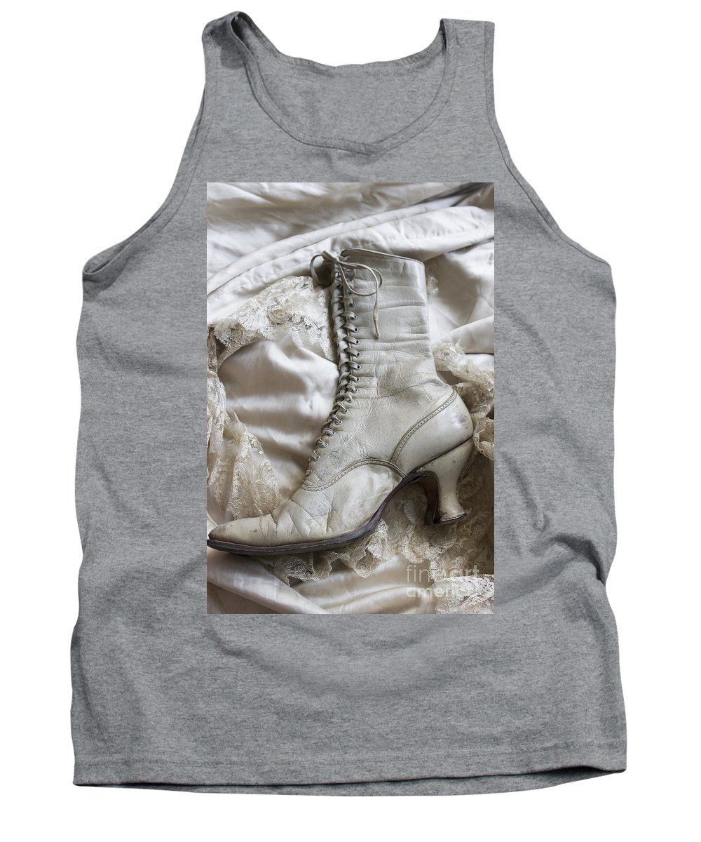 Boot Tank Top featuring the photograph One Left by Margie Hurwich
