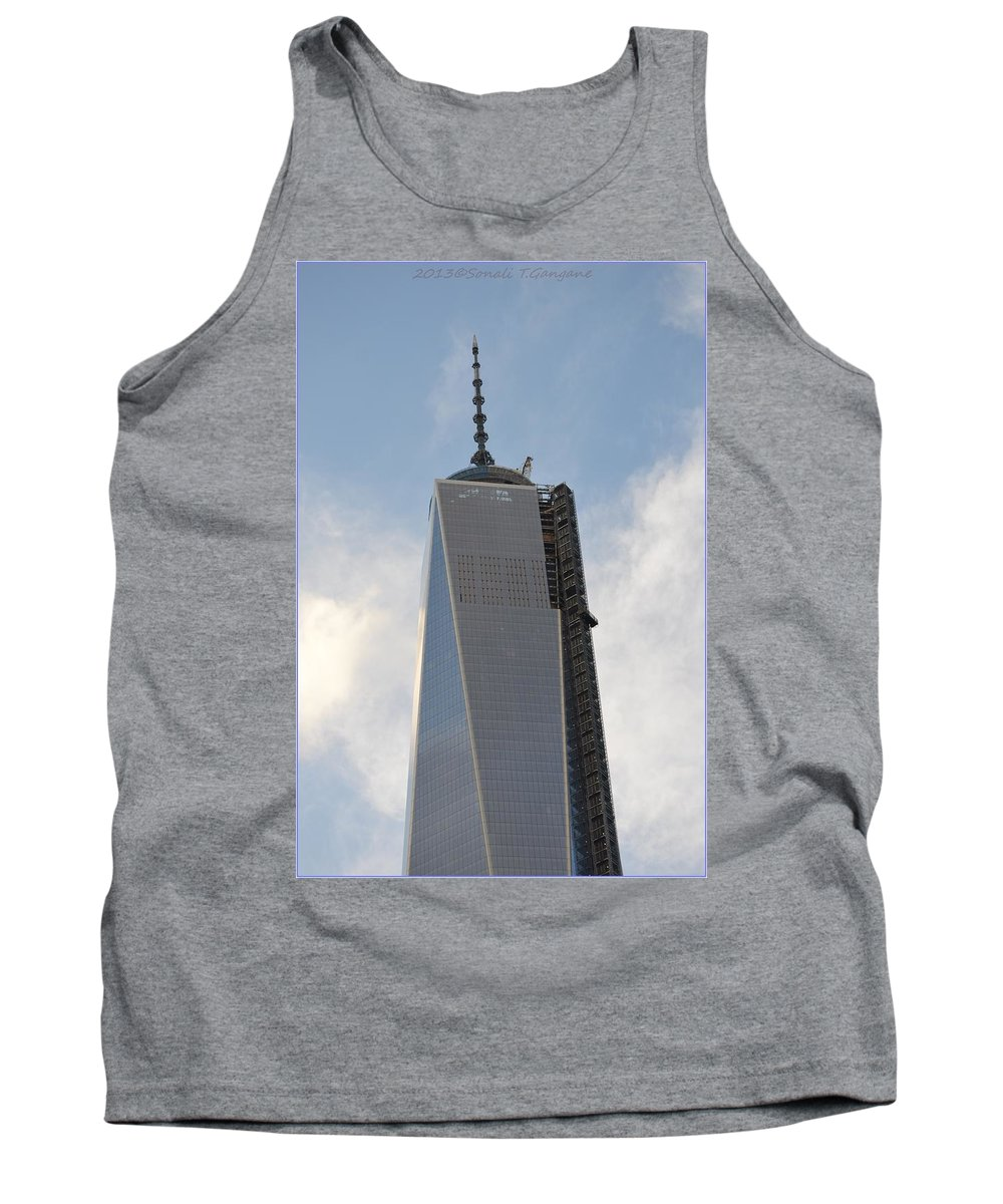 1 World Trade Center Tank Top featuring the photograph One World Trade Center by Sonali Gangane