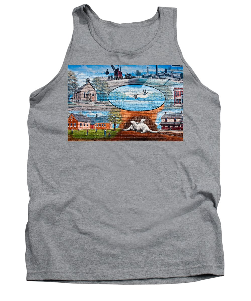 Ontario Tank Top featuring the photograph Ontario Heritage Mural by Steve Harrington