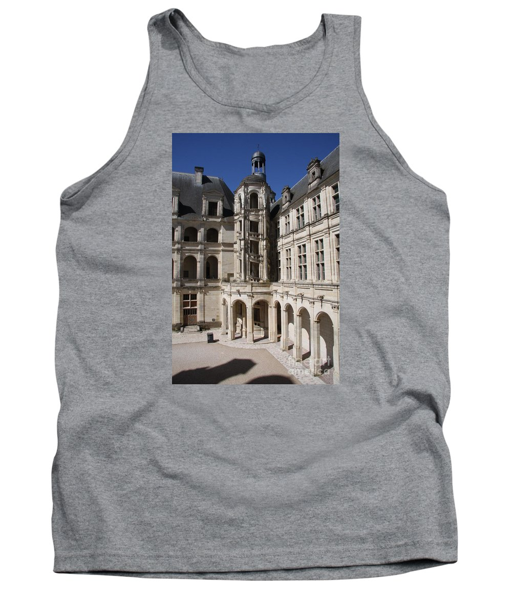 Palace Tank Top featuring the photograph Open Staircase Chateau Chambord - France by Christiane Schulze Art And Photography