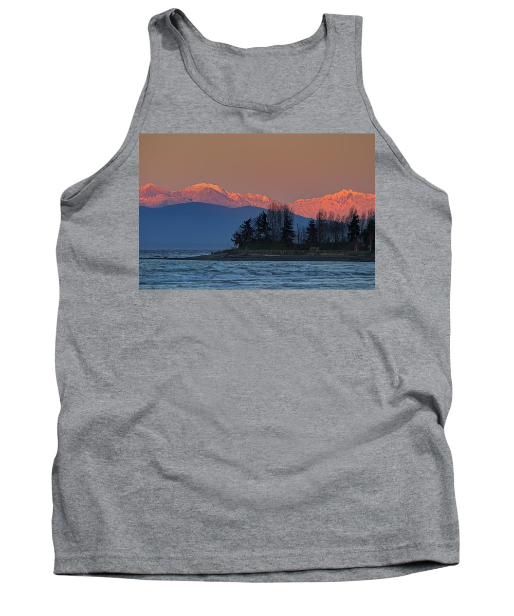 Mountains Tank Top featuring the photograph Orange Snow by Randy Hall