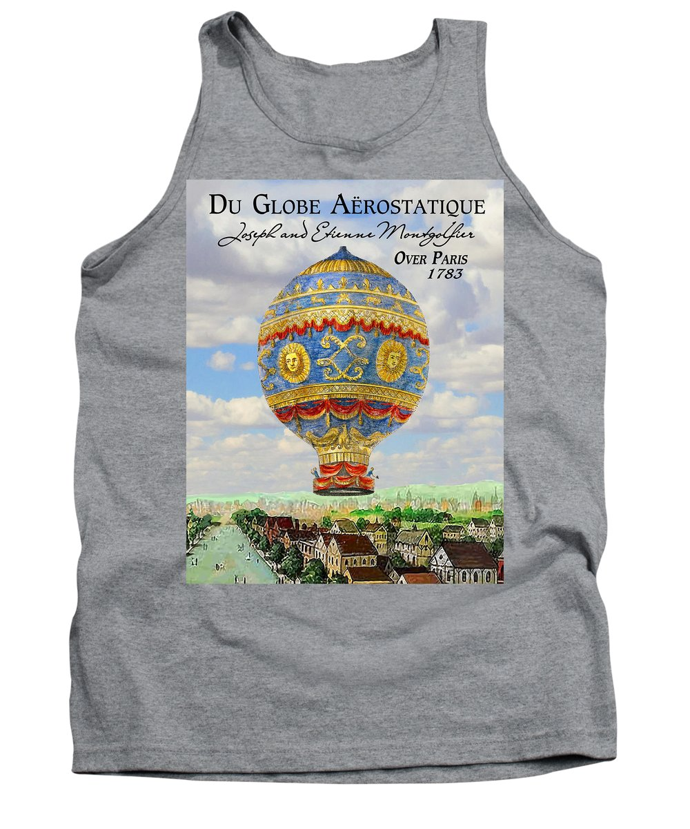 Clouds Tank Top featuring the digital art Over Paris 1783 by Brian King