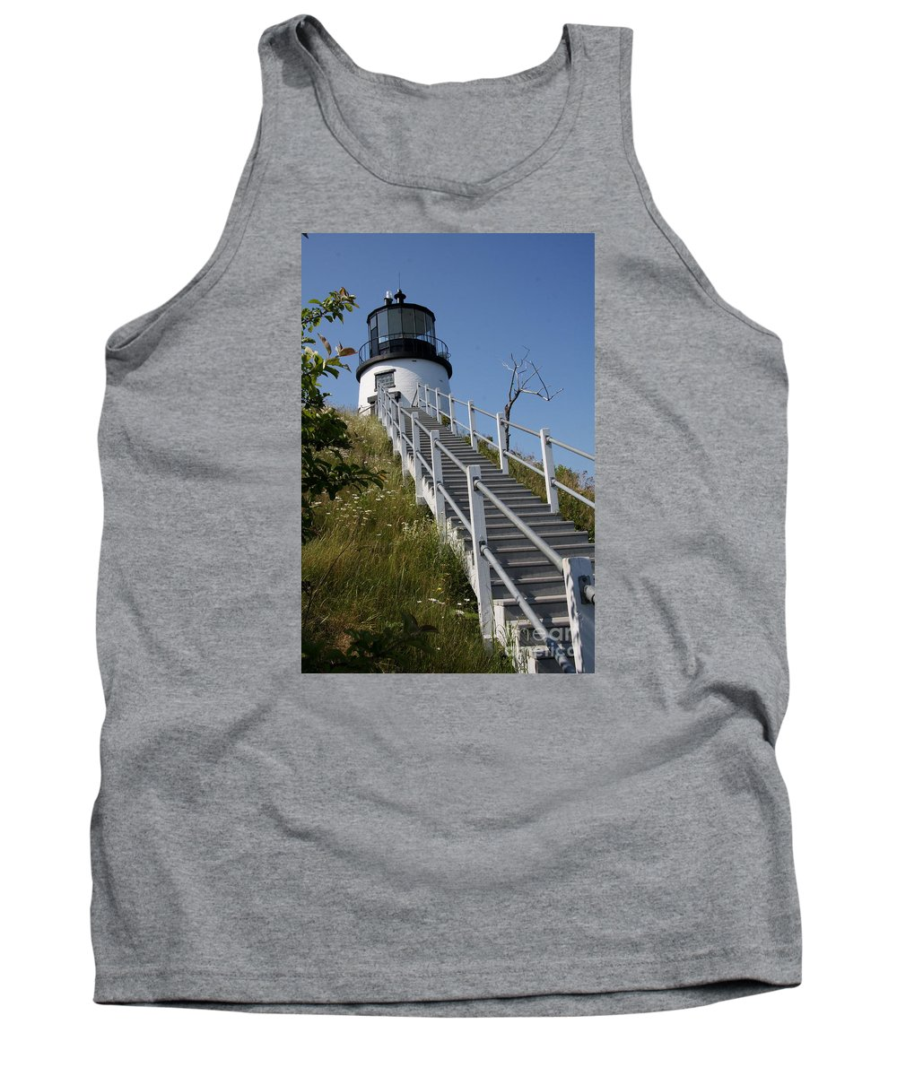Owls Head Light Tank Top featuring the photograph Owls Head Light - Me by Christiane Schulze Art And Photography