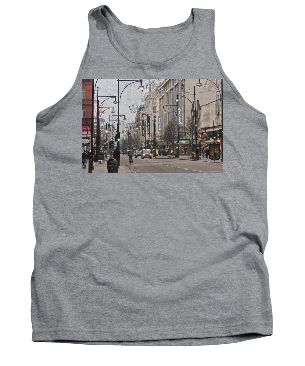 December Tank Top featuring the photograph Oxford Street by Maj Seda