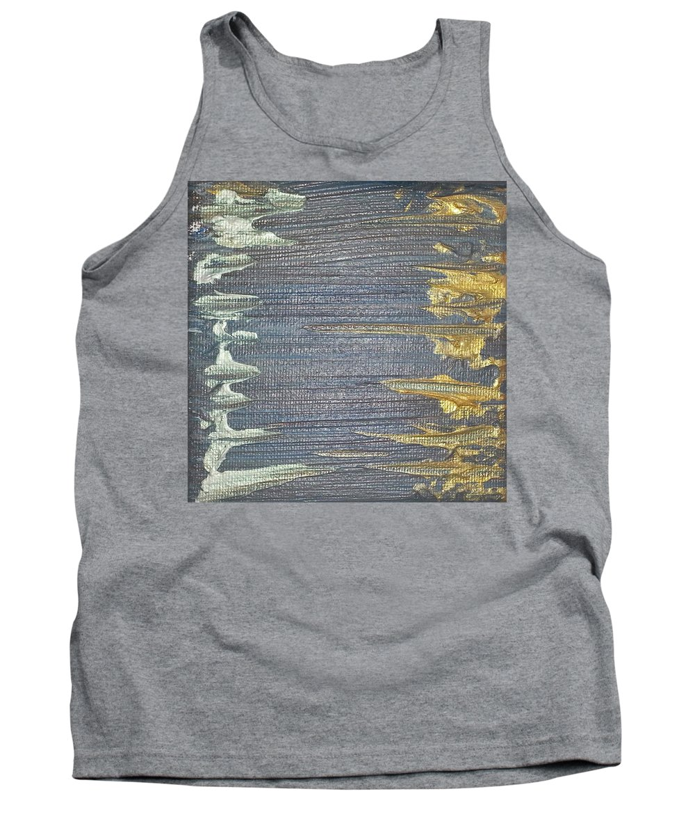 Abstract Painting Strcutured Mix Tank Top featuring the painting P1 by Kunst mit Herz Art with Heart
