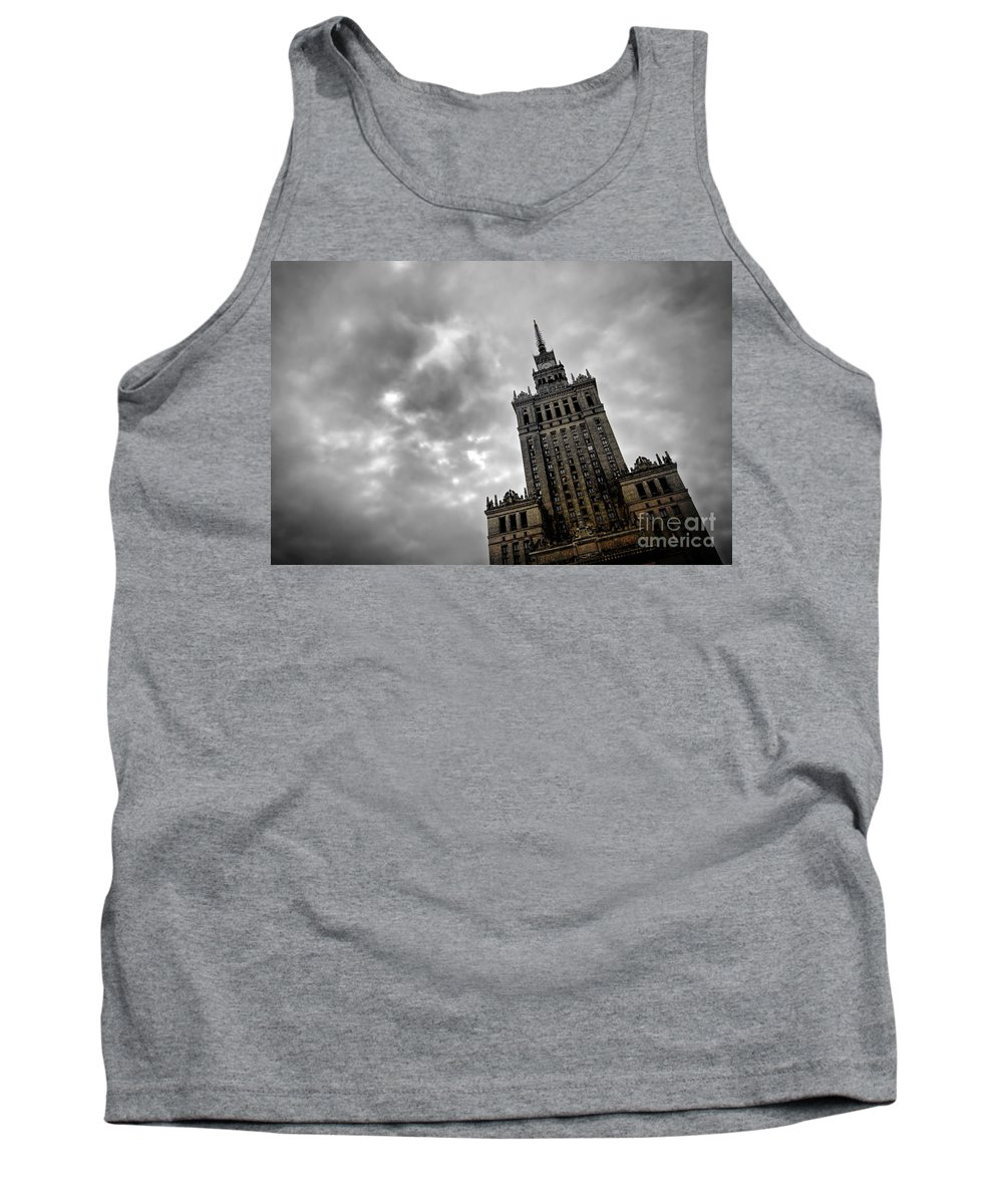Architecture Tank Top featuring the photograph Palace Of Culture And Science In Warsaw by Michal Bednarek