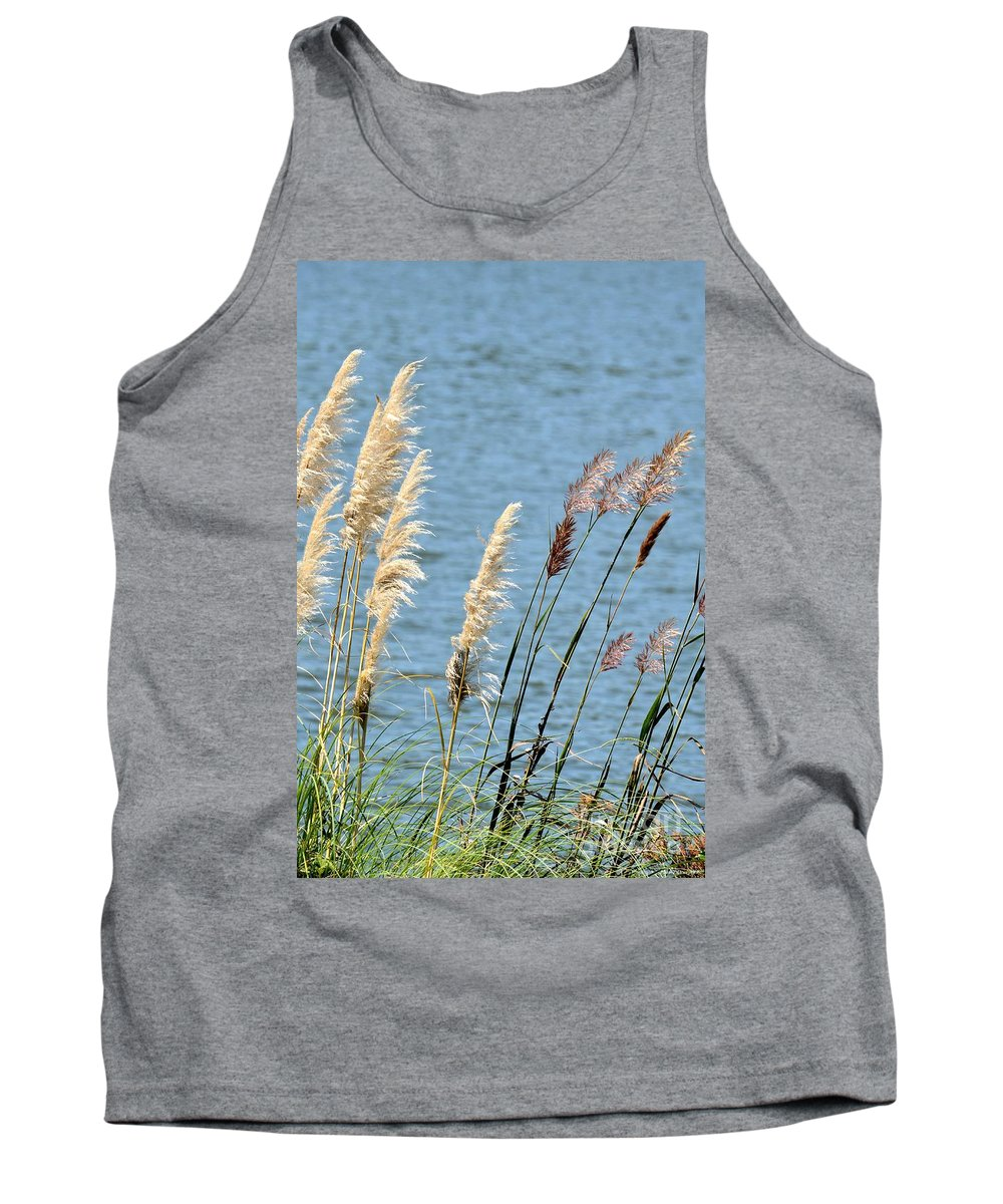 Pampas Tank Top featuring the photograph Pampas On The Lake by Maria Urso