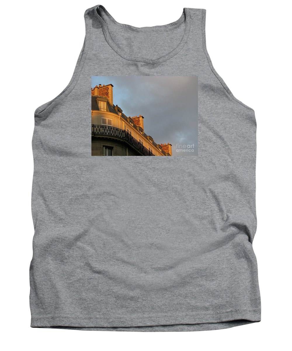 Paris Tank Top featuring the photograph Paris At Sunset by Ann Horn