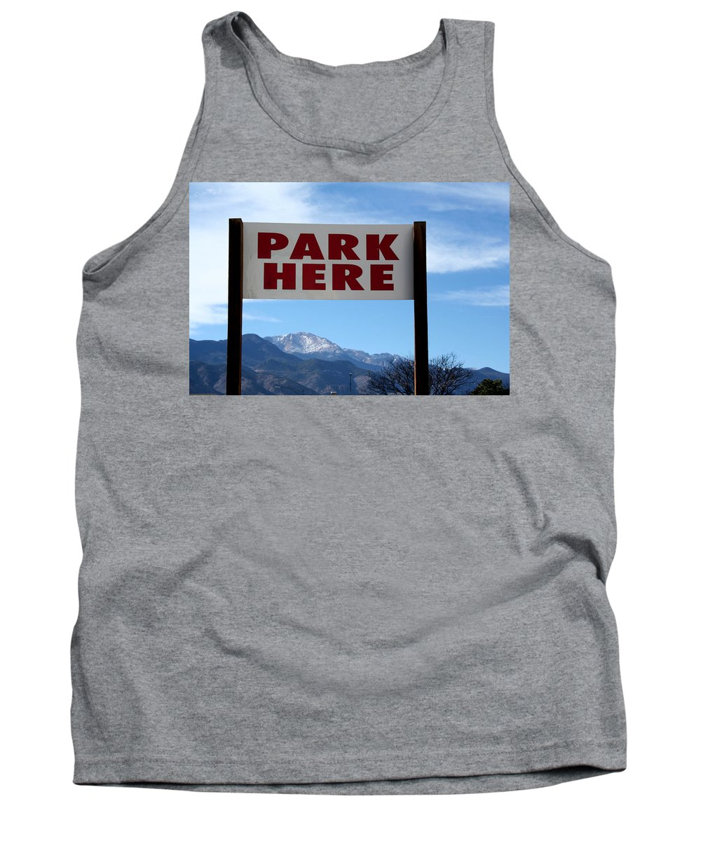 Downtown Tank Top featuring the photograph Park Here by Ric Bascobert