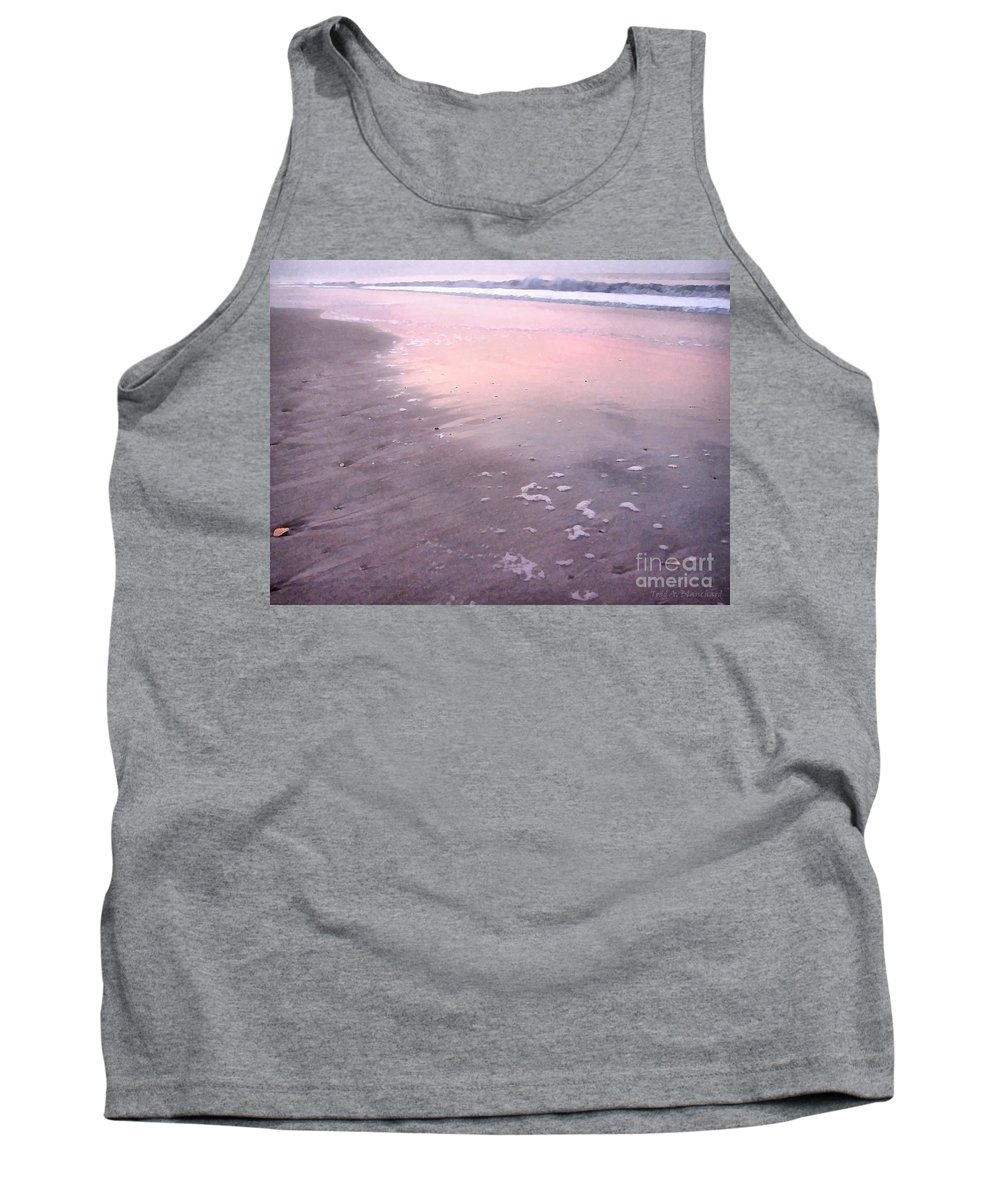 Landscape Tank Top featuring the photograph Pastel Beach by Todd A Blanchard