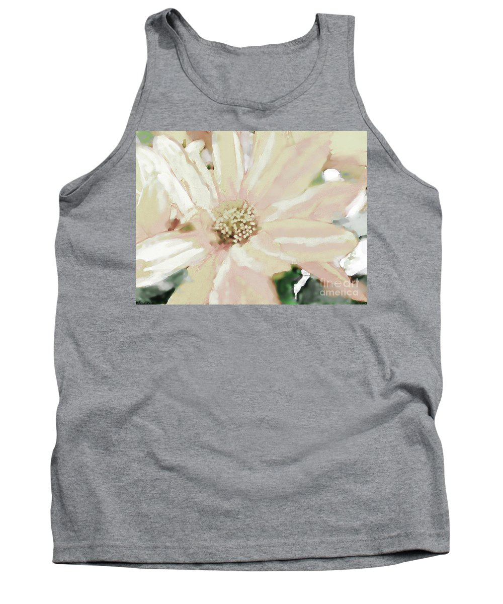 Nature Tank Top featuring the photograph Pastel Daisy Photoart by Debbie Portwood