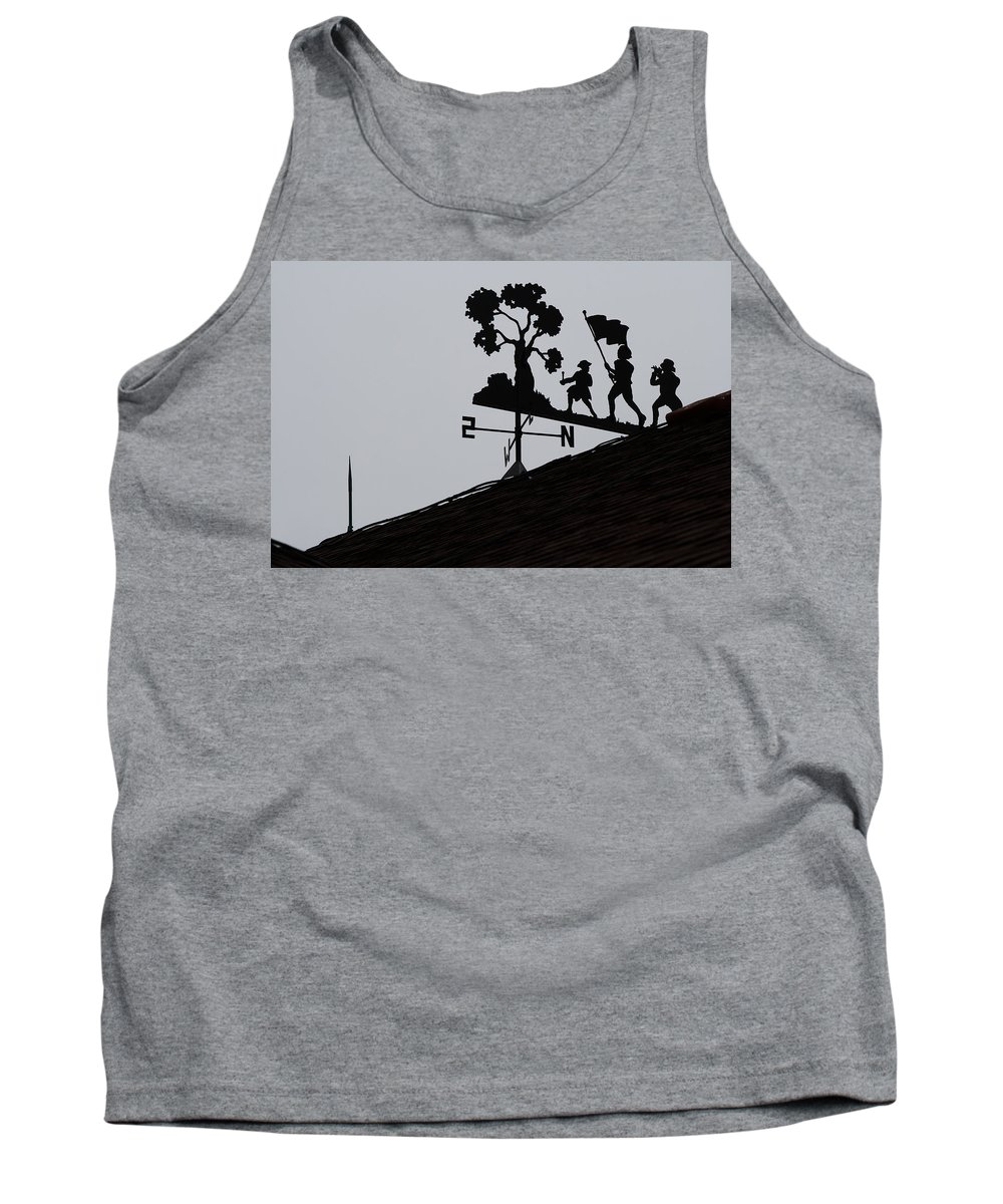 Weathervane Tank Top featuring the photograph Patriotic Weathervane by David Dufresne