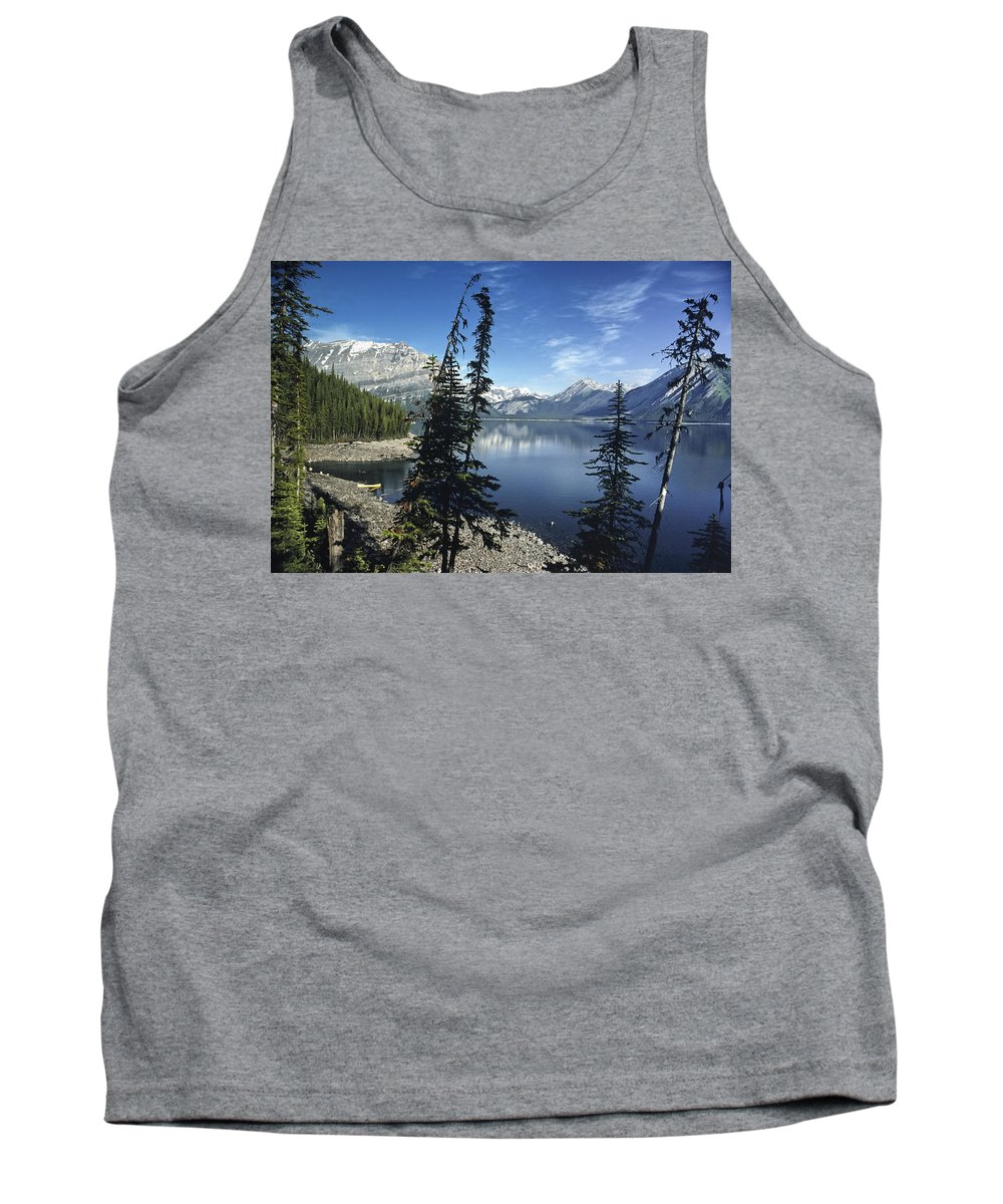 Americas Tank Top featuring the photograph Peaceful Mountain Lake by Roderick Bley