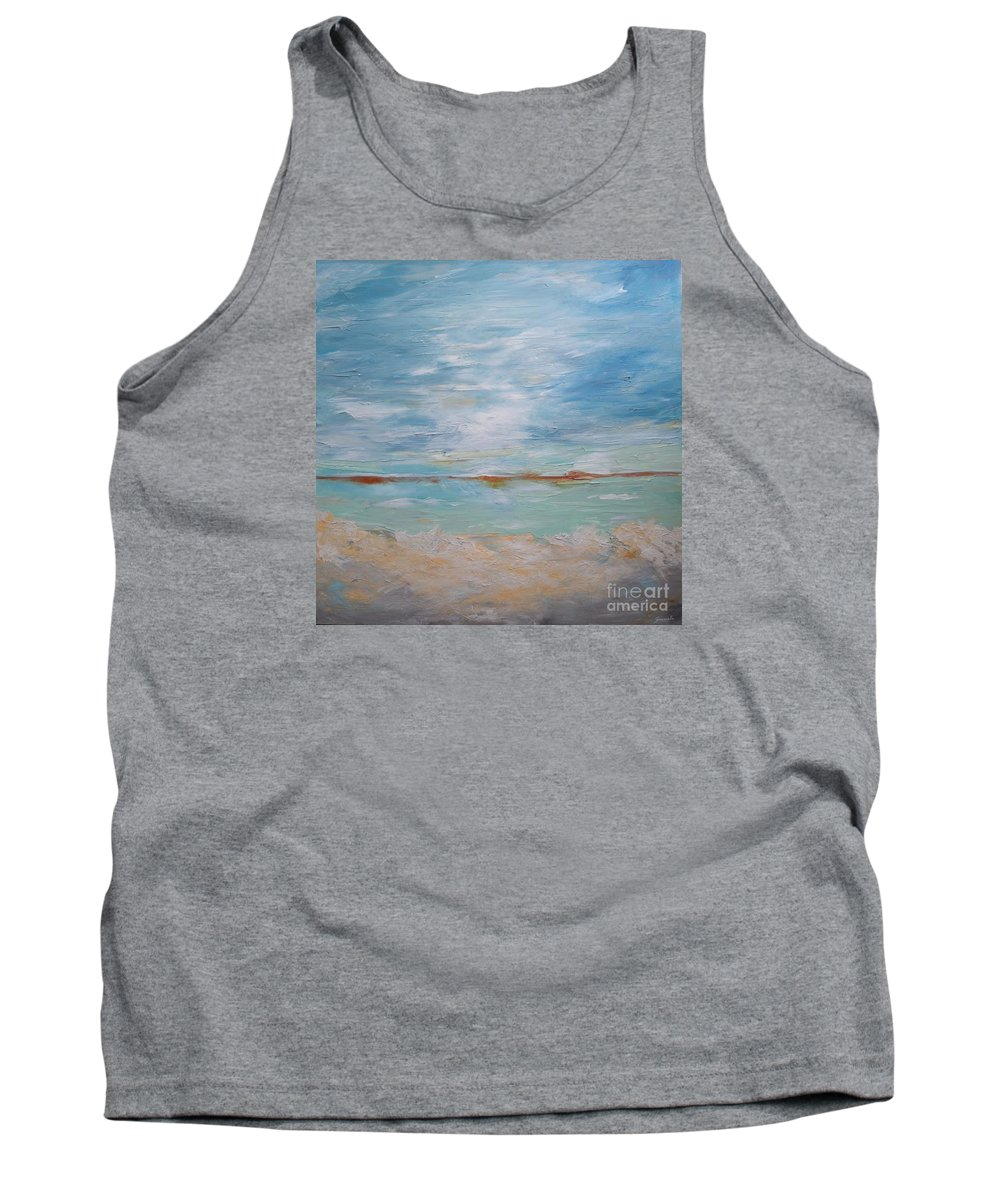 Ocean Tank Top featuring the painting Peacefulness by Graciela Castro