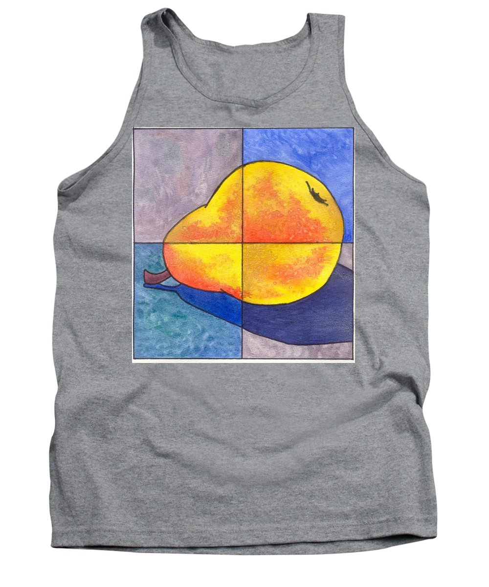 Pear Tank Top featuring the painting Pear I by Micah Guenther