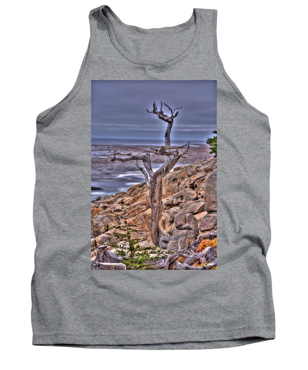 Tree Tank Top featuring the photograph Pebble Beach 4 by Richard J Cassato