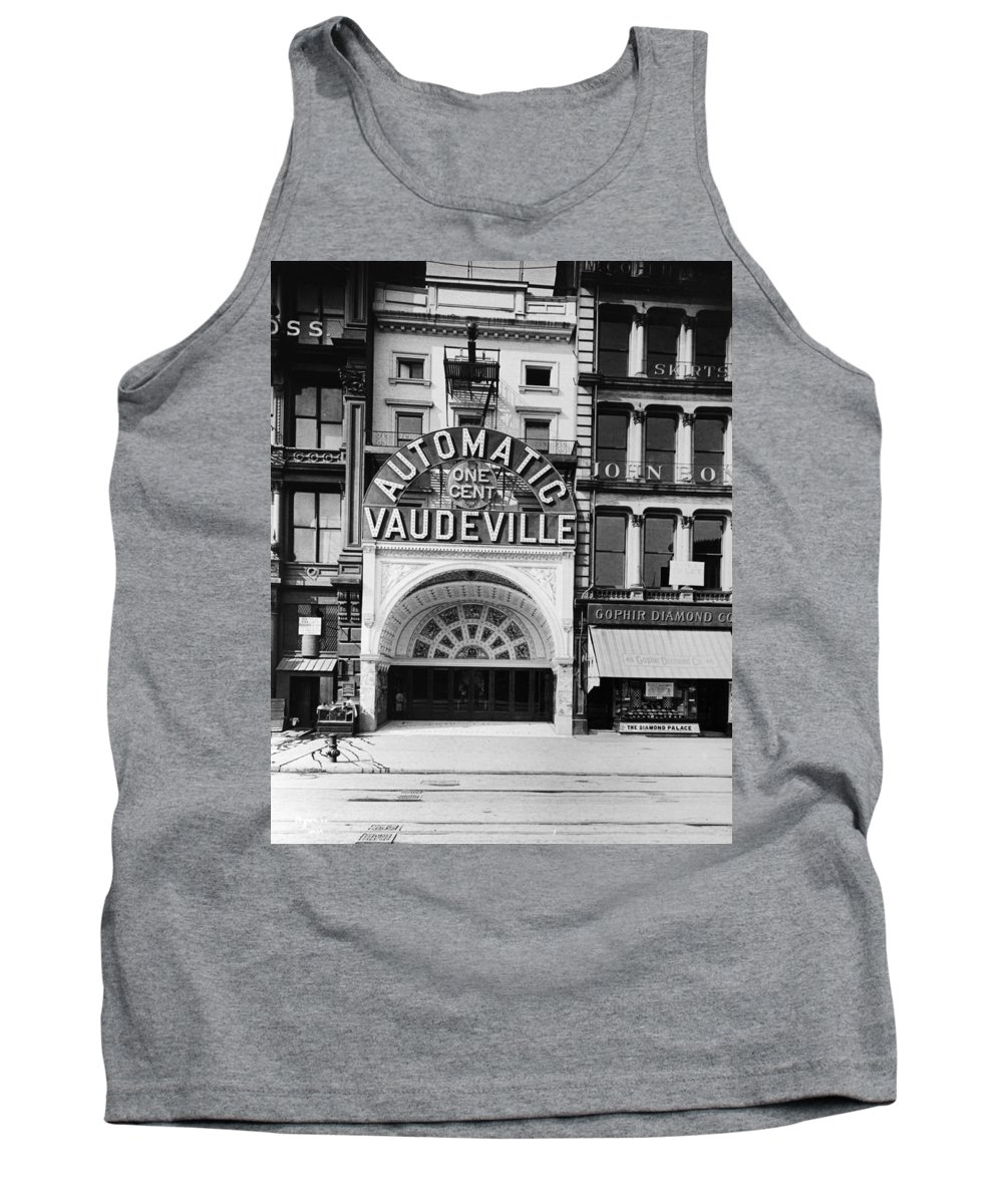 14th Street Tank Top featuring the photograph Peep Show Theater, 1890s by Granger