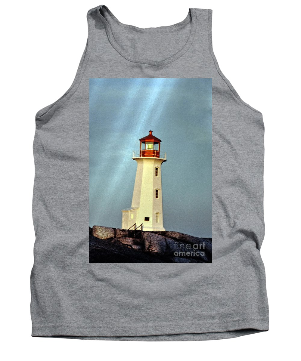 Peggy's Cove Lighthouse Tank Top featuring the photograph Peggy's Cove Lighthouse 2 by Lydia Holly