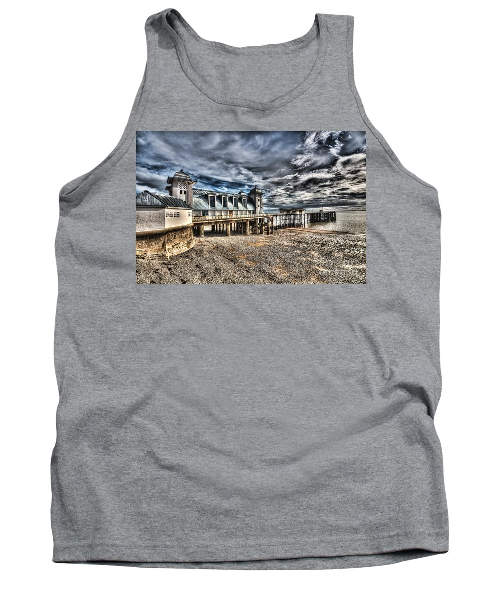 Penarth Pier Tank Top featuring the photograph Penarth Pier 6 by Steve Purnell