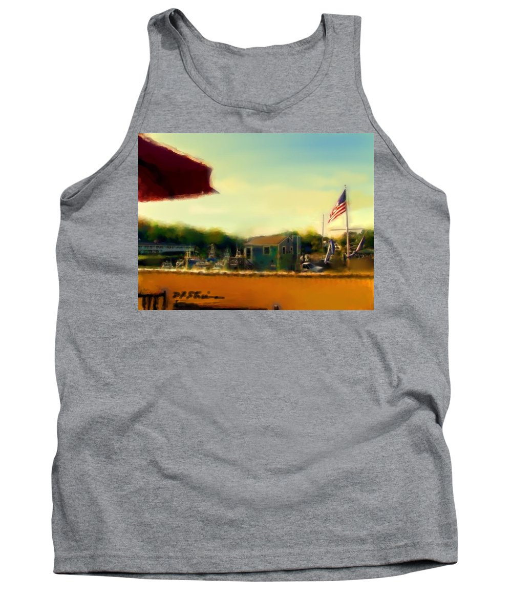 Fineartamerica.com Tank Top featuring the painting Perkin's Cove - Ogunquit Me - Number 5 by Diane Strain