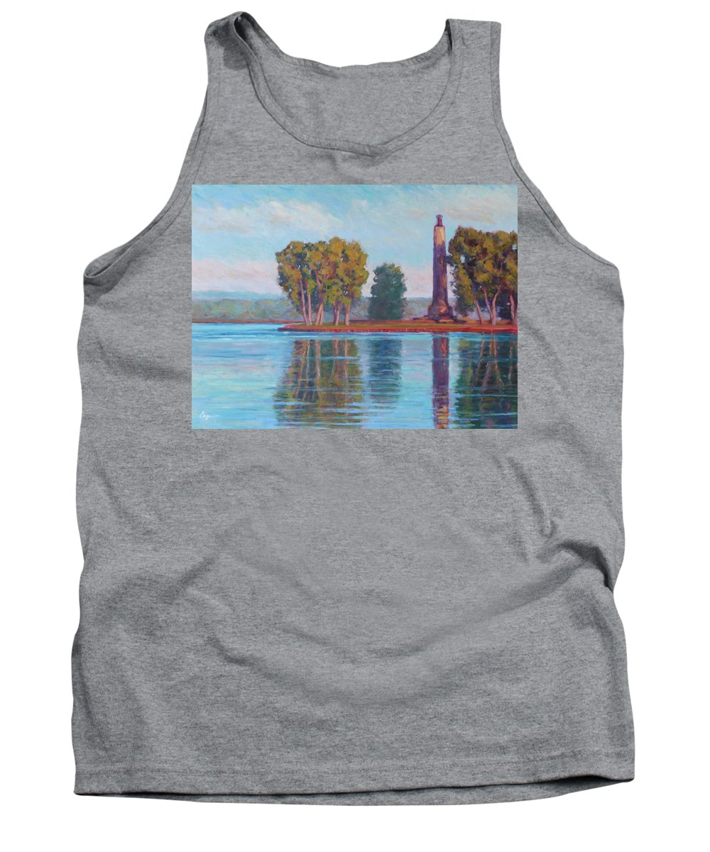 Perry Tank Top featuring the painting Perry Monument by Michael Camp