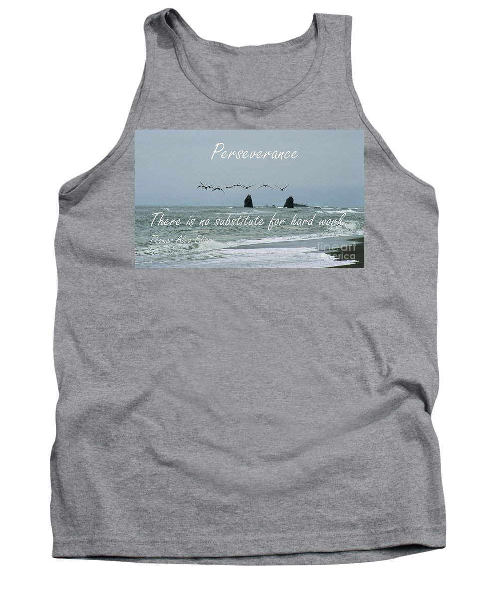 Perseverance Tank Top featuring the photograph Perseverance by Sharon Elliott