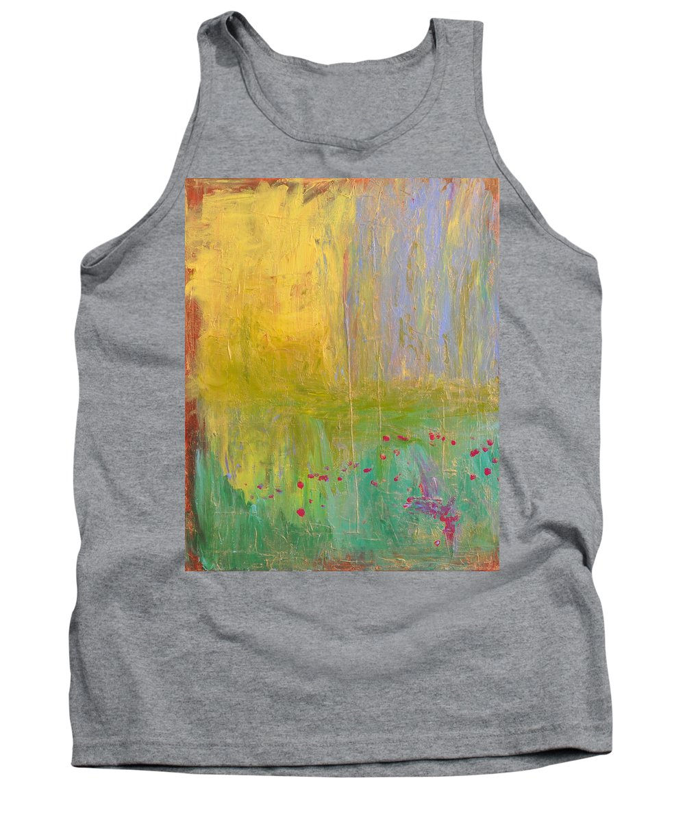 Wright Tank Top featuring the painting Petals In The Wind by Paulette B Wright