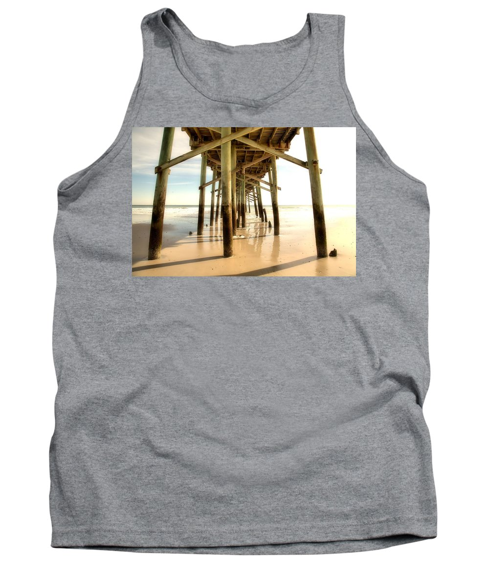 Pier Tank Top featuring the photograph Pier by Raleigh Art Gallery