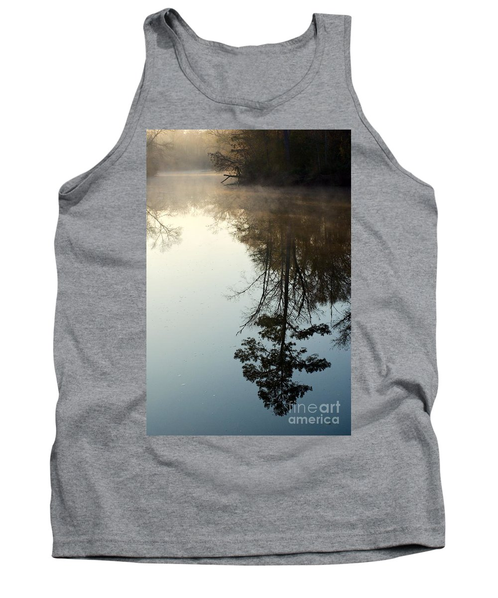 Reflection Tank Top featuring the photograph Pine Reflection by Gary Richards