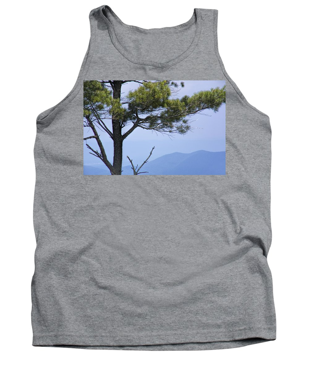 Art Tank Top featuring the photograph Pine Tree Along The Blue Ridge Parkway by Randall Nyhof