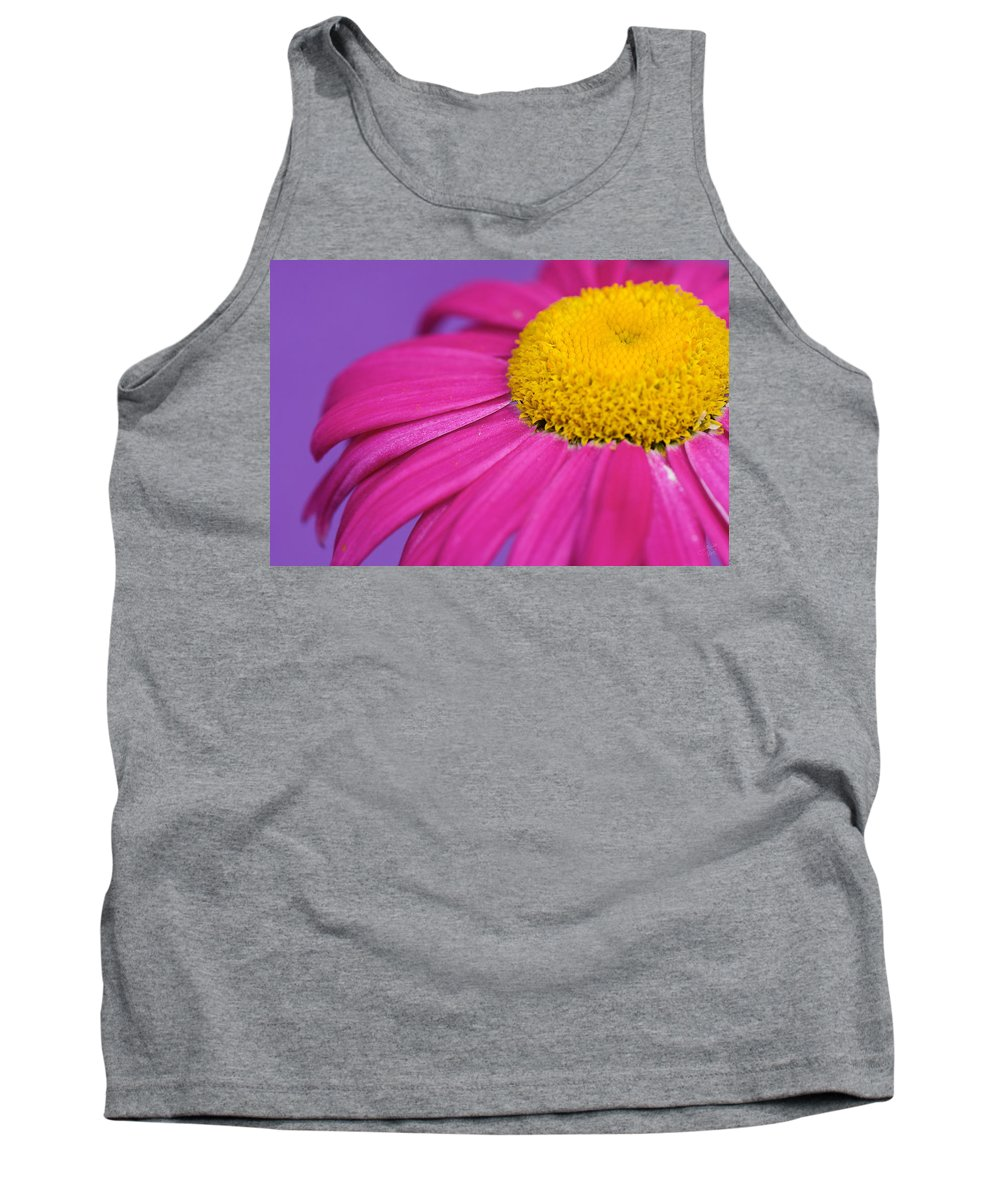 Interior Design Tank Top featuring the photograph Pink And Purple Smile by Lisa Knechtel