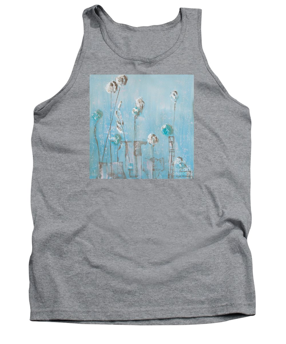 Flowers Tank Top featuring the painting Pink Flurry by Olga Alexeeva