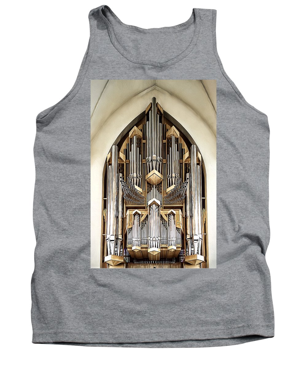 Antique Tank Top featuring the photograph Pipe Organ by Maria Coulson
