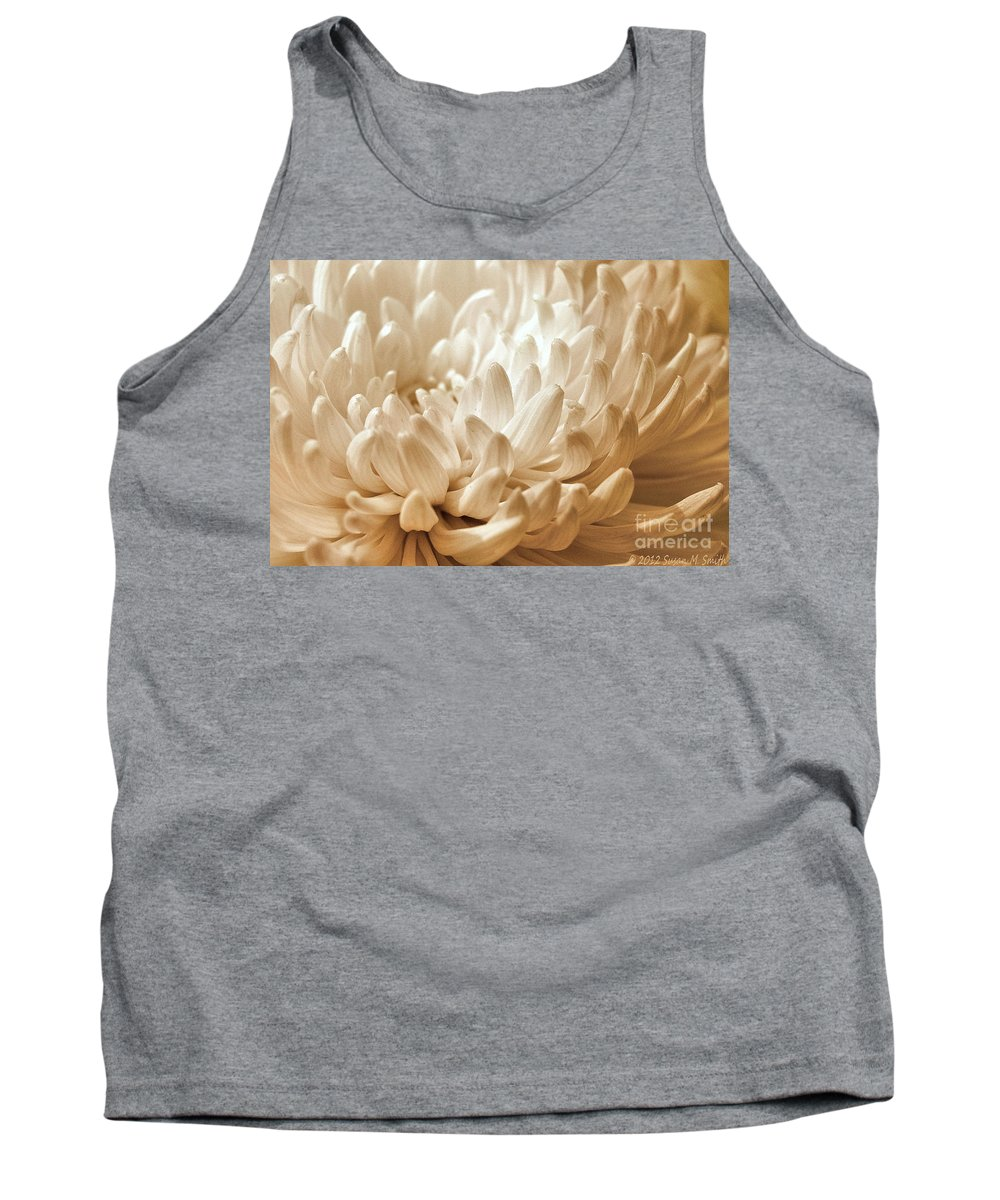 Flower Tank Top featuring the photograph Platinum Mum by Susan Smith