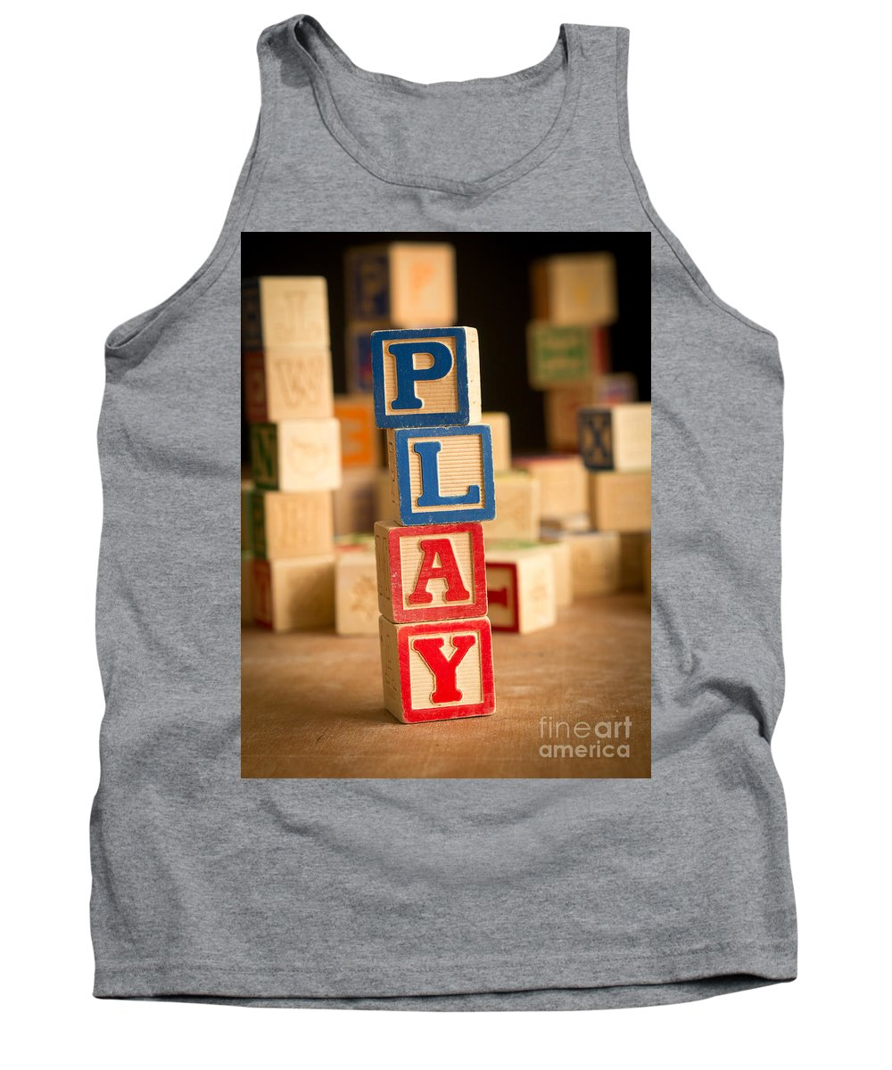 Abs Tank Top featuring the photograph Play - Alphabet Blocks by Edward Fielding