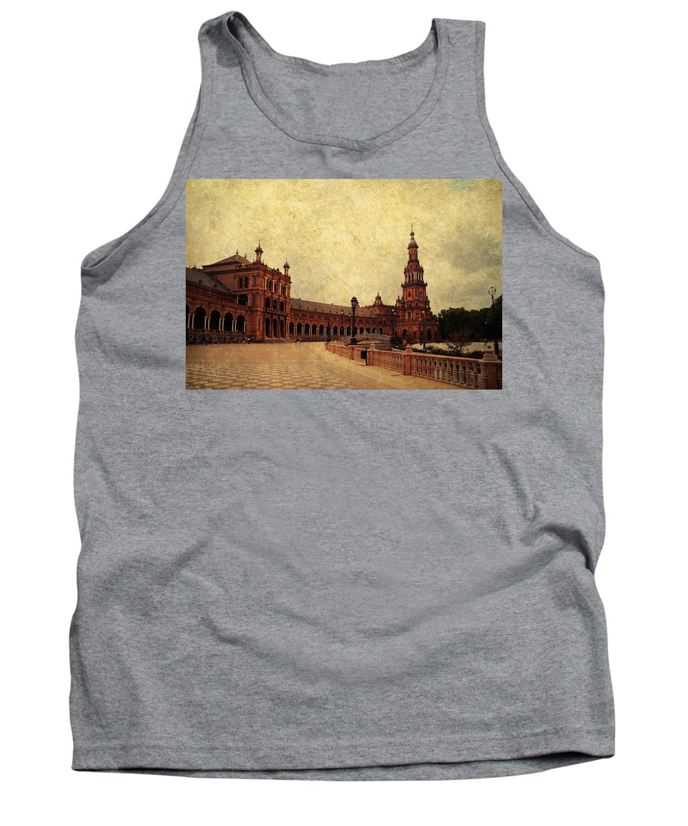 Seville Tank Top featuring the photograph Plaza De Espana 7. Seville by Jenny Rainbow