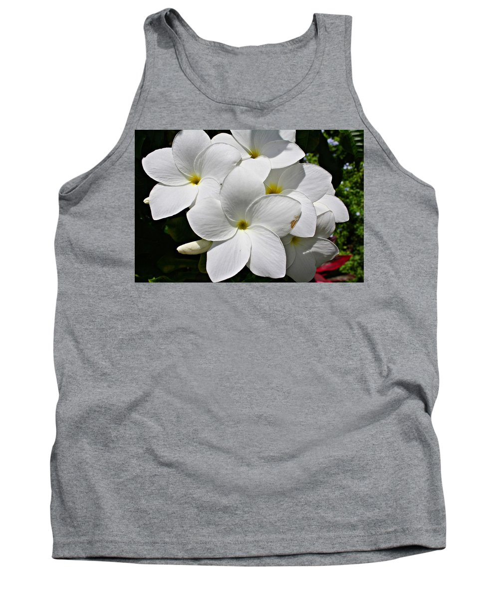 Flowers Tank Top featuring the photograph Plumeria Flowers by Marcelo Albuquerque