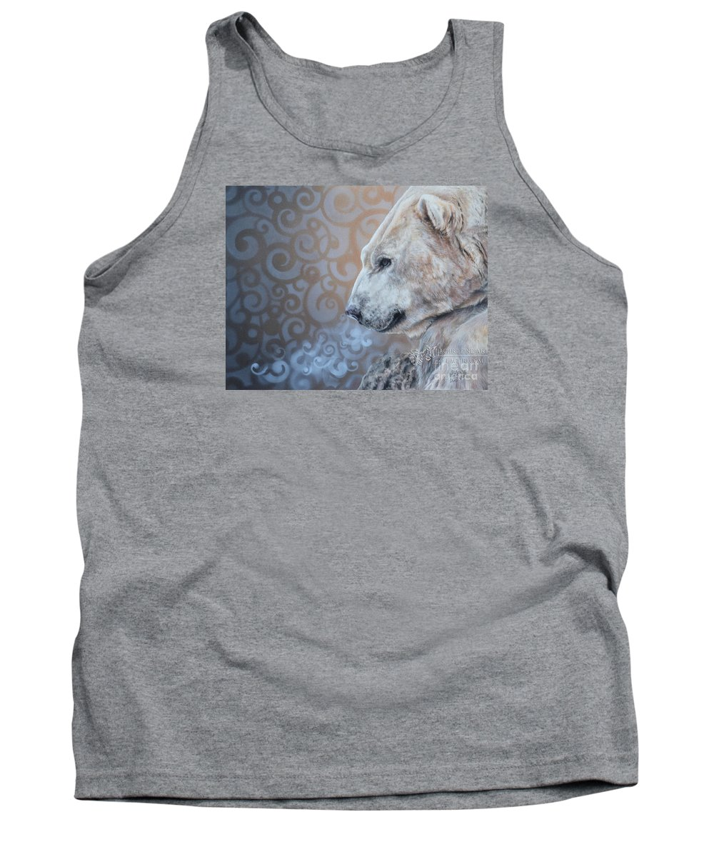 Polar Bear Tank Top featuring the painting Nebula by Lachri