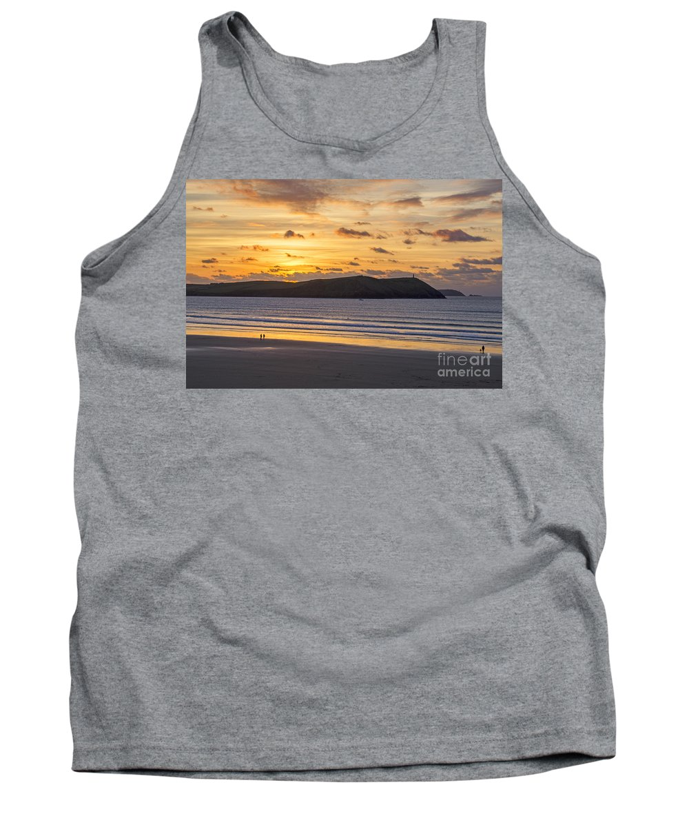Cornwall Prints Tank Top featuring the photograph Polzeath Sunset 4 by Chris Thaxter