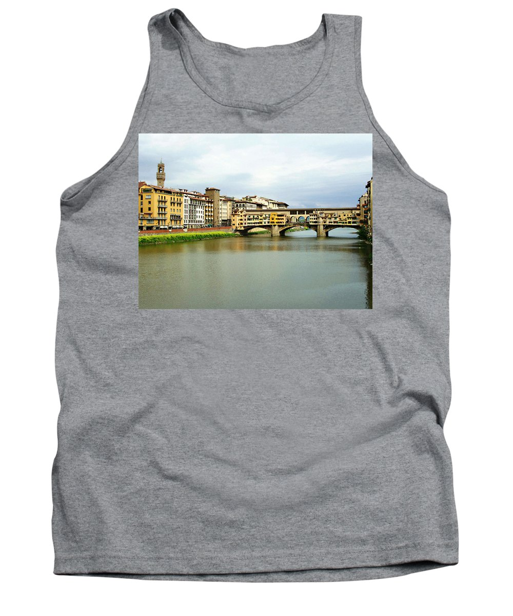 Ponte Vecchio Tank Top featuring the photograph Ponte Vecchio 1 by Ellen Henneke